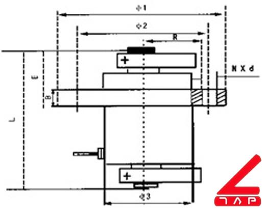 Bản vẽ động cơ rung YZUL-15-4